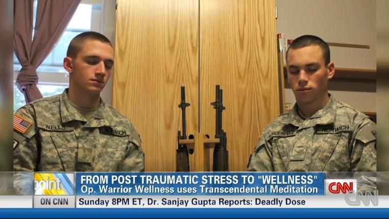 cnn soldiers meditate